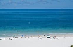Het Strand van Lido, Sarasota, Florida Stock Foto