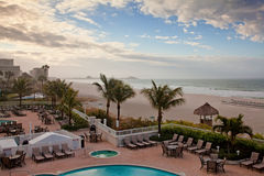 Het Strand van Lido, Sarasota, Florida Stock Afbeeldingen