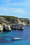 Het strand van Macarella in Menorca, Spanje Stock Afbeelding