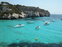 Het Strand van Macarella in Menorca (Spanje) Royalty-vrije Stock Fotografie