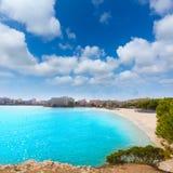 Het strand van Majorcaplatja Palmanova in Calvia Bol Teules Royalty-vrije Stock Fotografie