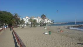 Het strand van Malaga royalty-vrije stock afbeelding