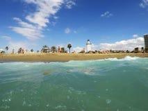 Het strand van Malaga Stock Foto