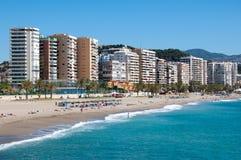 Het strand van Malaga, Spanje Stock Fotografie