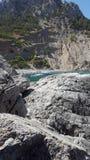 Het strand van Mallorca in aard Royalty-vrije Stock Foto's