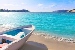 Het strand van Mallorca Cala Santa Ponsa Ponca in Majorca Royalty-vrije Stock Afbeelding