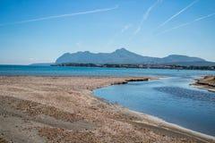 Het strand van Mallorca - Portalen Nous stock afbeelding