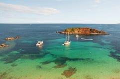 Het strand van Mallorca - Portalen Nous Stock Foto
