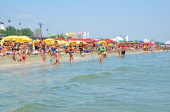 Het strand van Mamaia in Roemenië Stock Fotografie