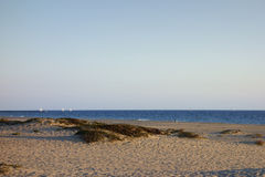 Het Strand van Mandalay in Avond, Oxnard, CA Royalty-vrije Stock Afbeelding