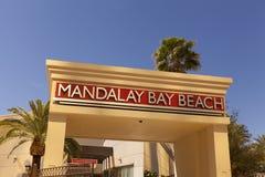 Het Strand van Mandalay in Las Vegas, NV op 19 April, 2013 Stock Foto's