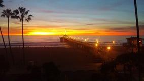 Het Strand van Manhattan, Californië Royalty-vrije Stock Foto's