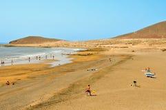 Het Strand van Medano in Tenerife, Canarische Eilanden, Spanje Royalty-vrije Stock Foto's