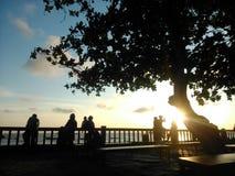 Het strand van Melawaibalikpapan Indonesië familyplace Royalty-vrije Stock Foto