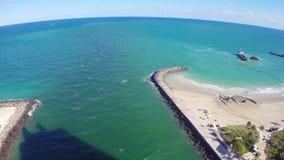 Het Strand van Miami stock video