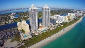 Het Strand van Miami stock footage