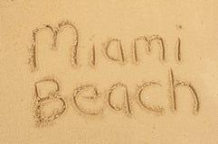 Het strand van Miami Royalty-vrije Stock Afbeeldingen