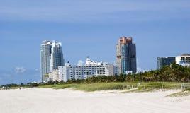 Het strand van Miami stock foto