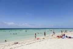 Het strand van Miami Stock Afbeelding