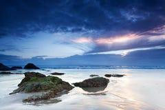 Het strand van Miami bij dageraad Royalty-vrije Stock Afbeelding