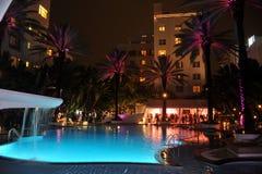 HET STRAND VAN MIAMI, FL - JULI 18: Een algemene mening van atmosfeer in Mercedes-Benz Fashion Week Swim 2014 Stock Afbeeldingen