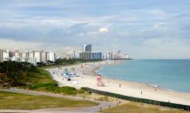 Het strand van Miami, Florida Stock Afbeeldingen