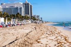 Het Strand van Miami, Florida Stock Afbeelding