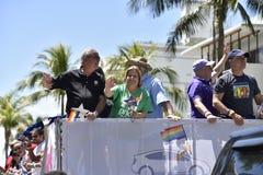 Het STRAND van MIAMI, FLORIDA, 9 APRIL, 2016 - Vrolijke Trots Royalty-vrije Stock Foto's