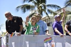 Het STRAND van MIAMI, FLORIDA, 9 APRIL, 2016 - Vrolijke Trots Stock Foto's