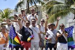 Het STRAND van MIAMI, FLORIDA, 9 APRIL, 2016 - Vrolijke Trots Royalty-vrije Stock Foto