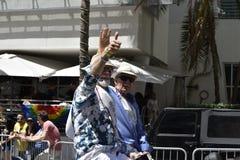 Het STRAND van MIAMI, FLORIDA, 9 APRIL, 2016 - Vrolijke Trots Stock Fotografie