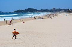 Het strand van Miami in Gouden Kust Queensland Australië Stock Foto's