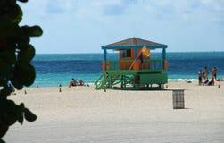Het Strand van Miami - Sobe Stock Afbeelding
