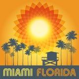 Het Strand van Miami, het strandaffiche van Florida Royalty-vrije Stock Foto's