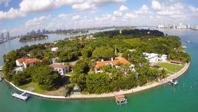 Het Strand van Miami van het stereiland stock footage
