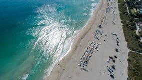 Het strand van Miami van het zuidenstrand Stock Fotografie
