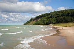 Het Strand van Michigan van het meer Royalty-vrije Stock Afbeeldingen
