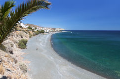 Het strand van Mirtos bij het eiland van Kreta, Griekenland Royalty-vrije Stock Afbeelding