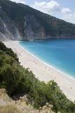 Het Strand van Mirtos, Kefalonia, September 2006 royalty-vrije stock afbeeldingen