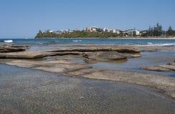 Het Strand van Moffat, Australië stock foto