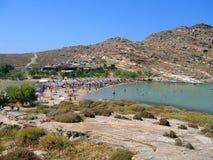 Het Strand van Monastiri, Paros Stock Foto's