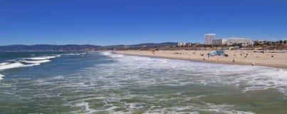 Het strand van Monica van de kerstman Royalty-vrije Stock Fotografie