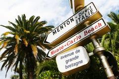 Het strand van Monte Carlo Stock Afbeelding
