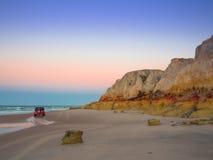 Het strand van Morrobranco Stock Afbeeldingen