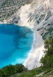 Het strand van Myrtos Stock Afbeelding