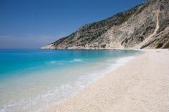 Het strand van Myrtos Royalty-vrije Stock Afbeeldingen