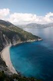 Het strand van Myrtos in Cephalonia stock foto