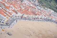 Het strand van Nazare Stock Foto's