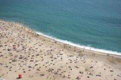 Het strand van Nazare stock afbeelding