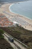 Het Strand van Nazare, Portugal Royalty-vrije Stock Foto